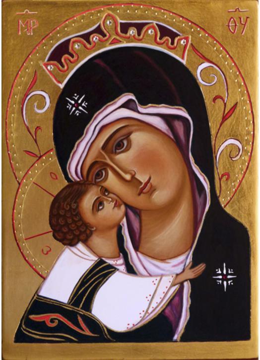 Icone Religieuse icône religieuse de la vierge à l'enfant (réf. ic_9207) - vente d