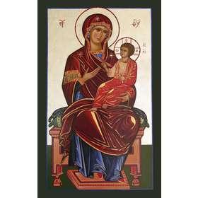 Icône de Vierge Marie tronant avec Jésus