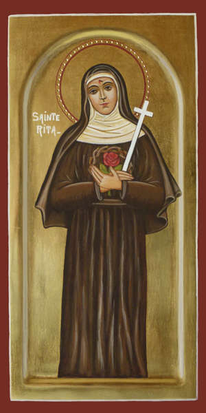 Bien-aimé Religious icon: Saint Rita of Cascia - Christian shop - Products MI44