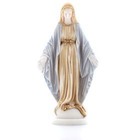 Estatua policromada de la Virgen milagrosa, 23 cm (Vue de face)