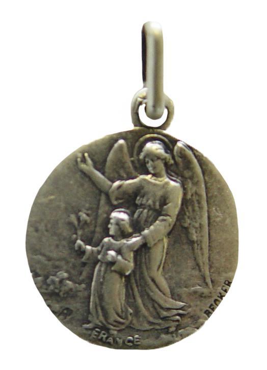 Médaille religieuse de l'Ange Gardien, 15 mm