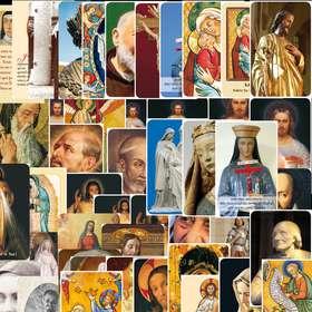 Lot panaché de 50 modèles de cartes-prières série A