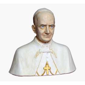 Bust of the blessed Paul VI, 15 cm (Vue du face)