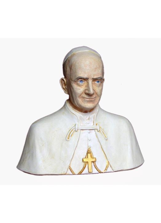 Busto del beato Paul VI, 15 cm (Vue du face)