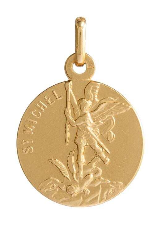 Medal of Saint Michael 18mm, gold plated