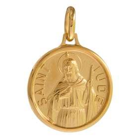Medalla de San Judas, chapada de oro - 18 mm