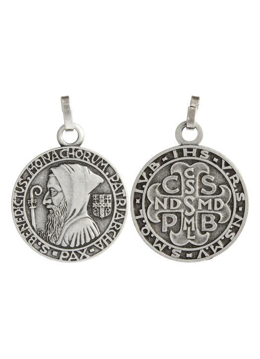 Medal of Saint Benedict, metal - 20 mm