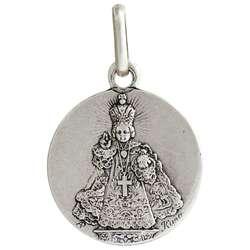 Medalla del Niño Jesús de Praga, plateado - 15 mm