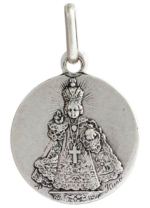 Medal of he Infant Jesus of Prague, metal - 15 mm