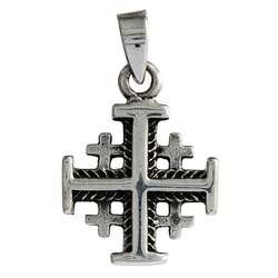 Croix de Jérusalem en argent massif