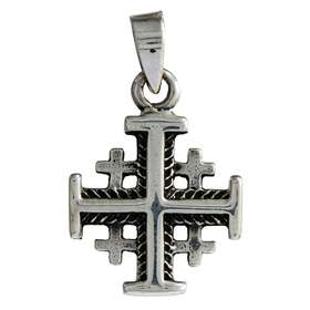 Cross of Jerusalem silver plated