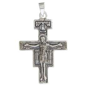 Cross-pendentive of Damian silver plated