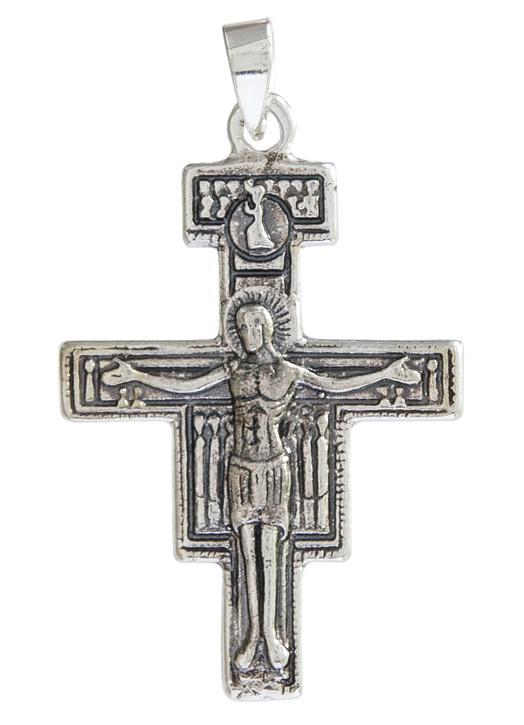 Cruz de Saint-Damien plata maciza