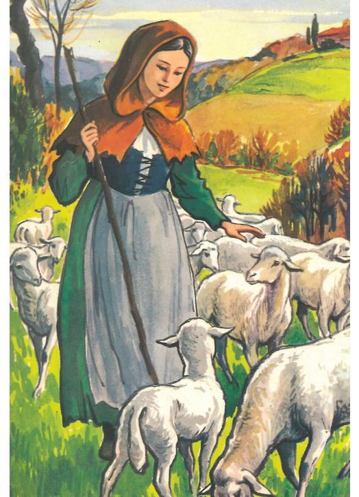 Icon of St. Germaine keeping sheep