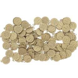 Médailles dorées de st Benoît aluminium - 18 mm - lot de 100 (Lot de 100 médailles)