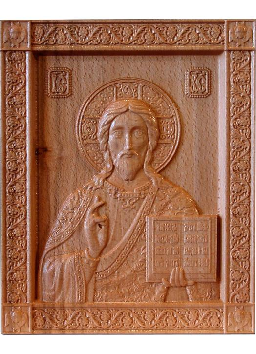 Bas-relief of Christ the Saviour
