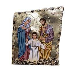 icono sobre piedra de la Sagrada Familia