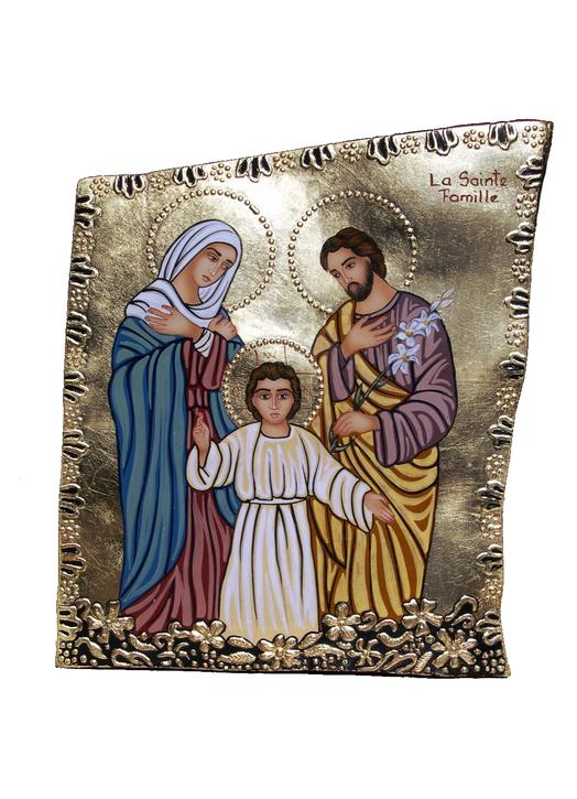 Stone Icon of the Holy Family