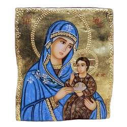 icono sobre piedra de la Virgen Hodegetria