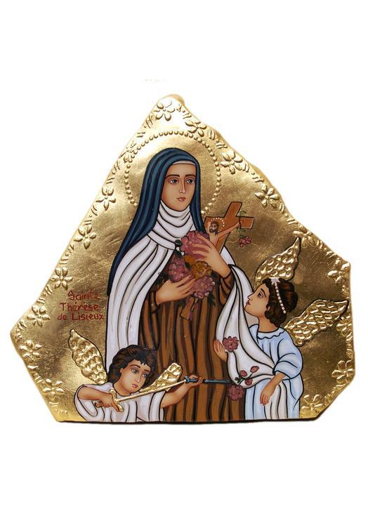 Stone icon of Saint Teresa of the Child Jesus