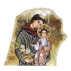 Stone icon Saint Anthony of Padua
