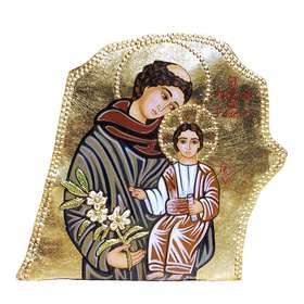 icono sobre piedra de San Antonio de Padua