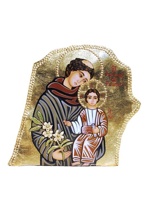 Icône en pierre Saint Antoine de Padoue