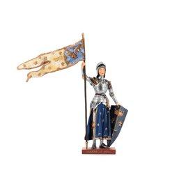 Statue de sainte Jeanne d'Arc, polychrome, 26,5 cm (Vue de face)