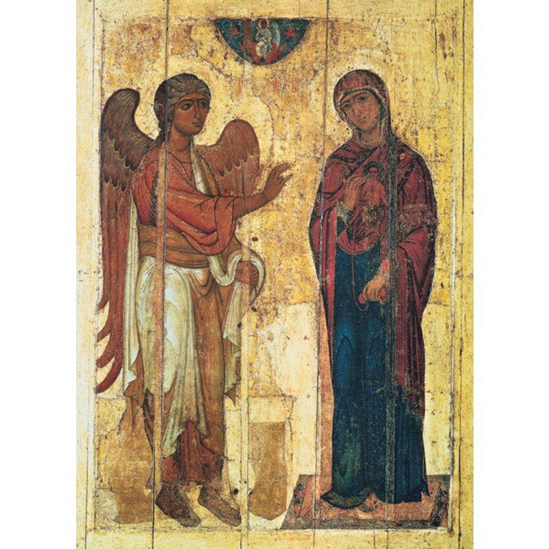 Icône religieuse : l'Annonciation (M)