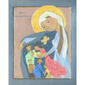 Icono de María, el protector de las Familias