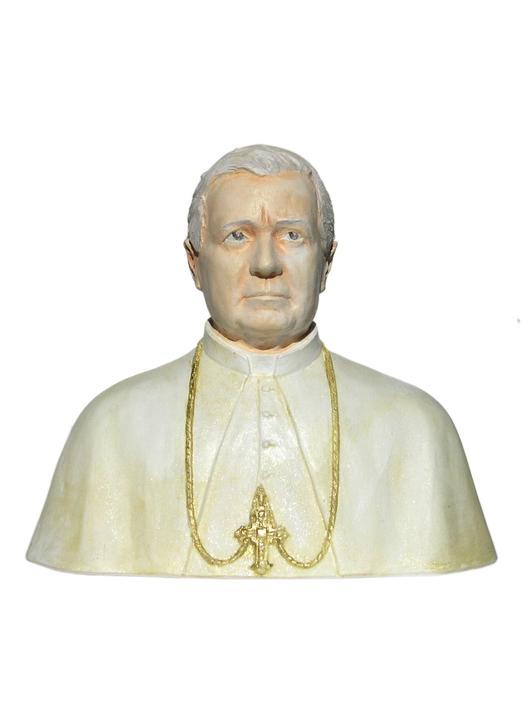 Bust of the saint Pie X, 15 cm (Vue de face)