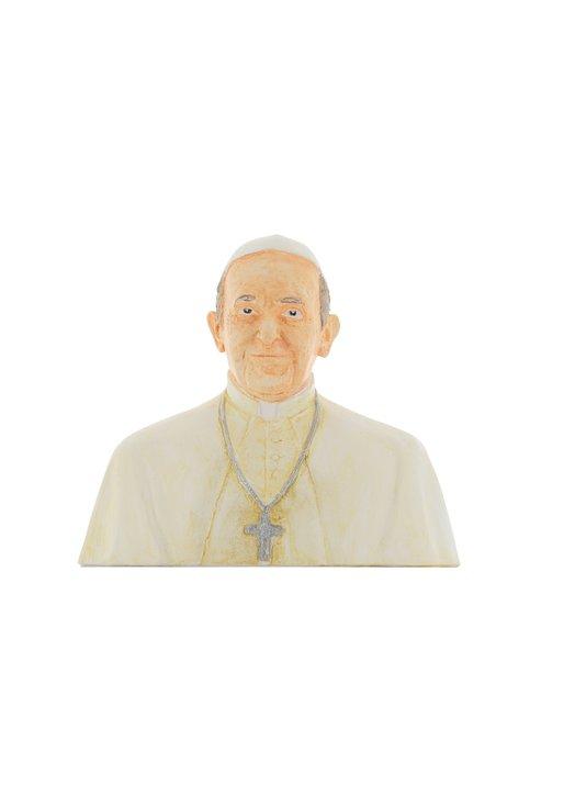 Buste van de Paus Franciscus, 15 cm (Vue de face)