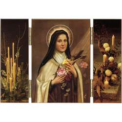 Saint Theresa of the Child Jesus with roses