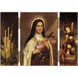 Sta. Teresita del Niño Jesús con rosas