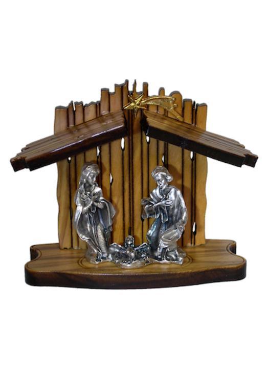 Mini Christmas crib - 8 cm