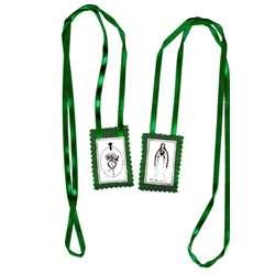 Groene scapulier, insignes van het Onbevlekt Hart van Maria