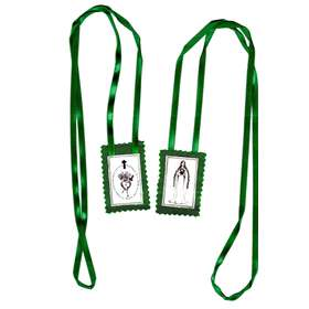 Green scapular, insignia of...