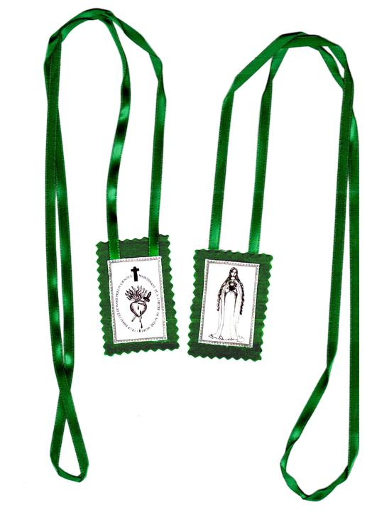 Green scapular of the Immaculate Heart of Mary - Religious shop