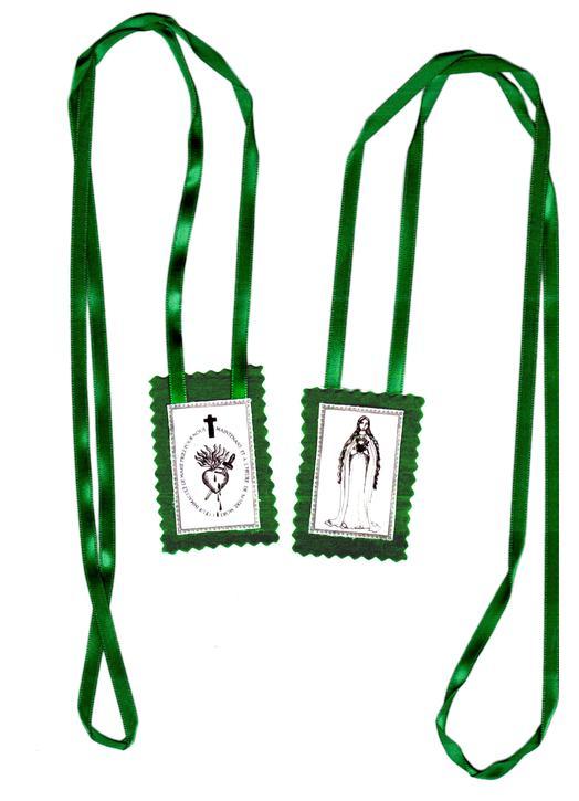 Groene scapulier van het Onbevlekt Hart van Maria - Producten