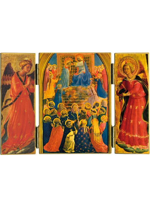 LaCoronación de María enpresencia de los Ángeles y Santos