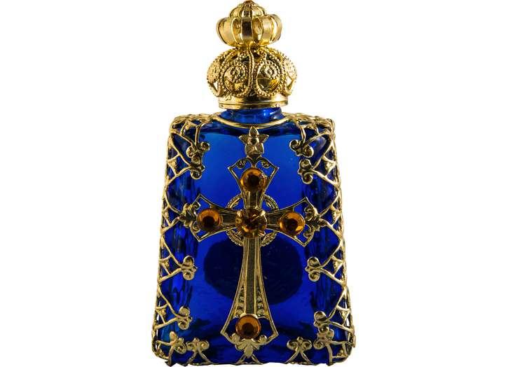 Flacon en verre de Bohême (Vue de face)