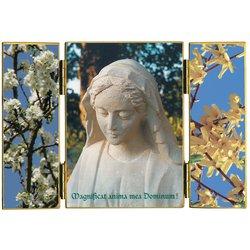 Vierge sculptée par un moine de l'Abbaye Saint-Joseph de Clairval