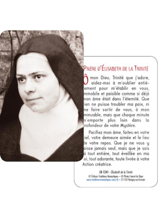 Carte-prière sainte Elisabeth de la Trinité (Recto-Verso)