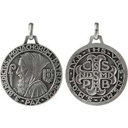 Medaille van Sint-Benedictus, metaal - 40 mm