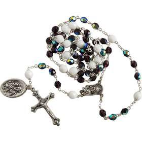 Rozenkrans van St. Joseph, transparante paarse parels