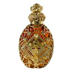 Glass bottle of Bohemia (Orange color) (Vue de face)