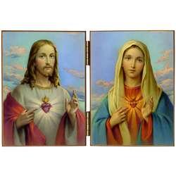 Het Heilig Hart van Jezus en het Onbevlekt Hart van Maria