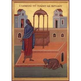 Icoon van de gelijkenis van de tollenaar en de farizeeër