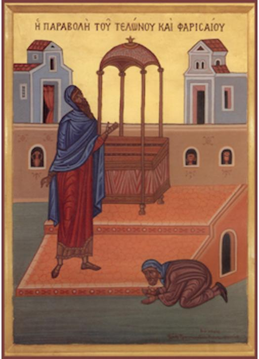 Icon of The Parable of the Publican and the Pharisee