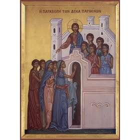 Icono de la parábola de las diez vírgenes